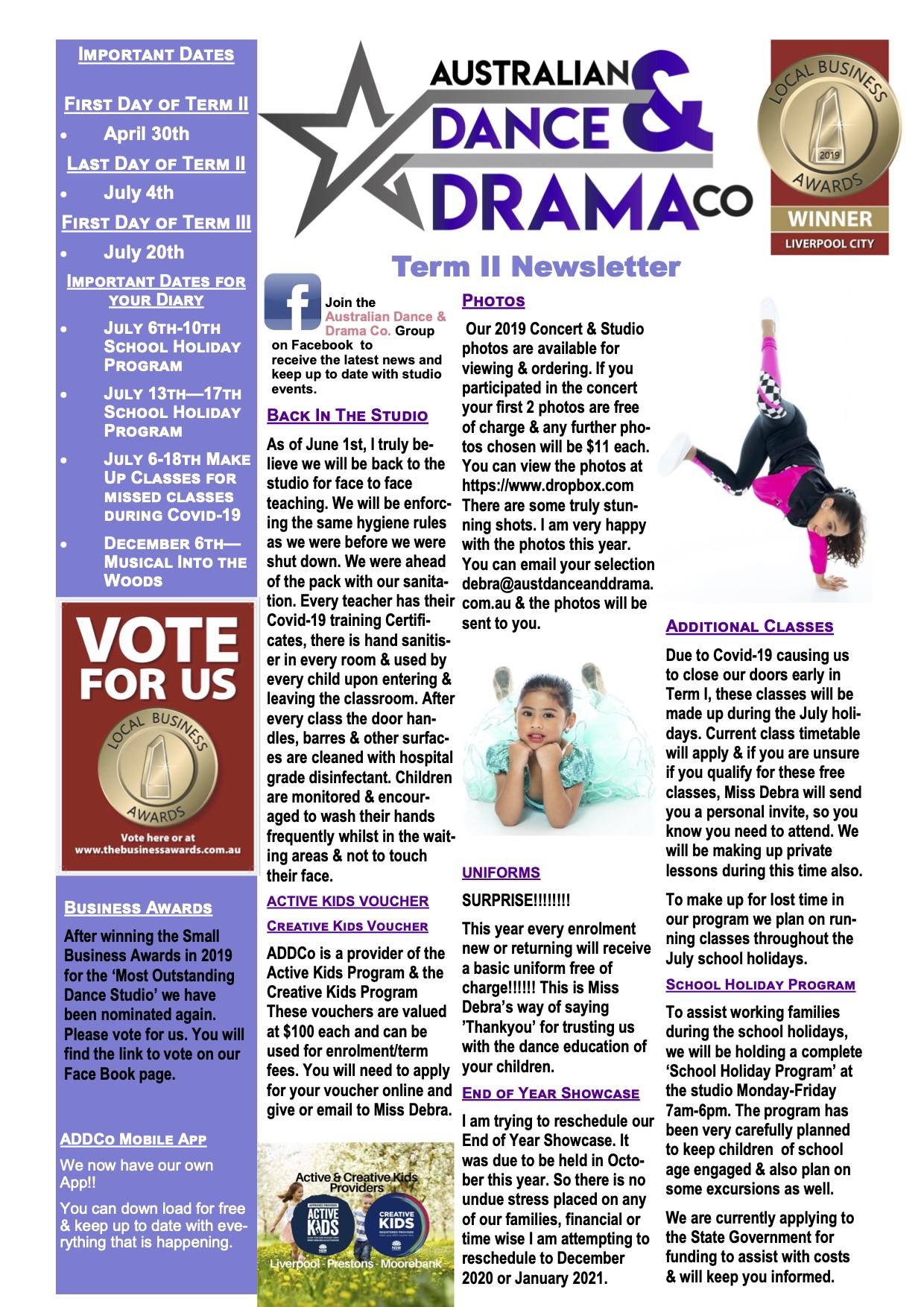 dance newsletter
